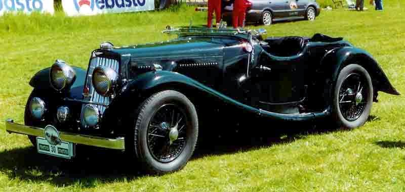 Classic Car Wallpaper - Aston Martin 2-Litre 2/4-Seater Sports 1937