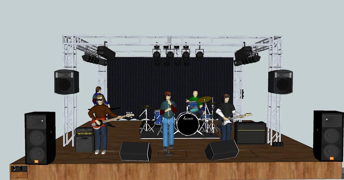 pa system stage setup for musicians live band sound system setup