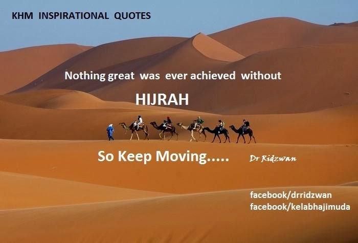 Hijrah: keep moving