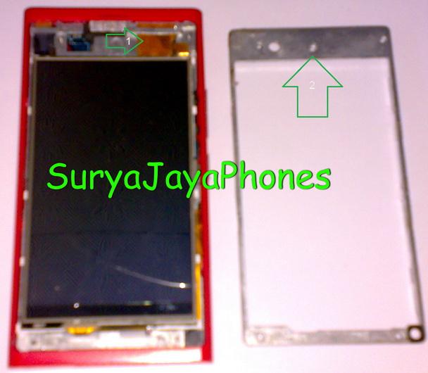 ... layar LCD dari framenya seperti terlihat pada gambar berikut