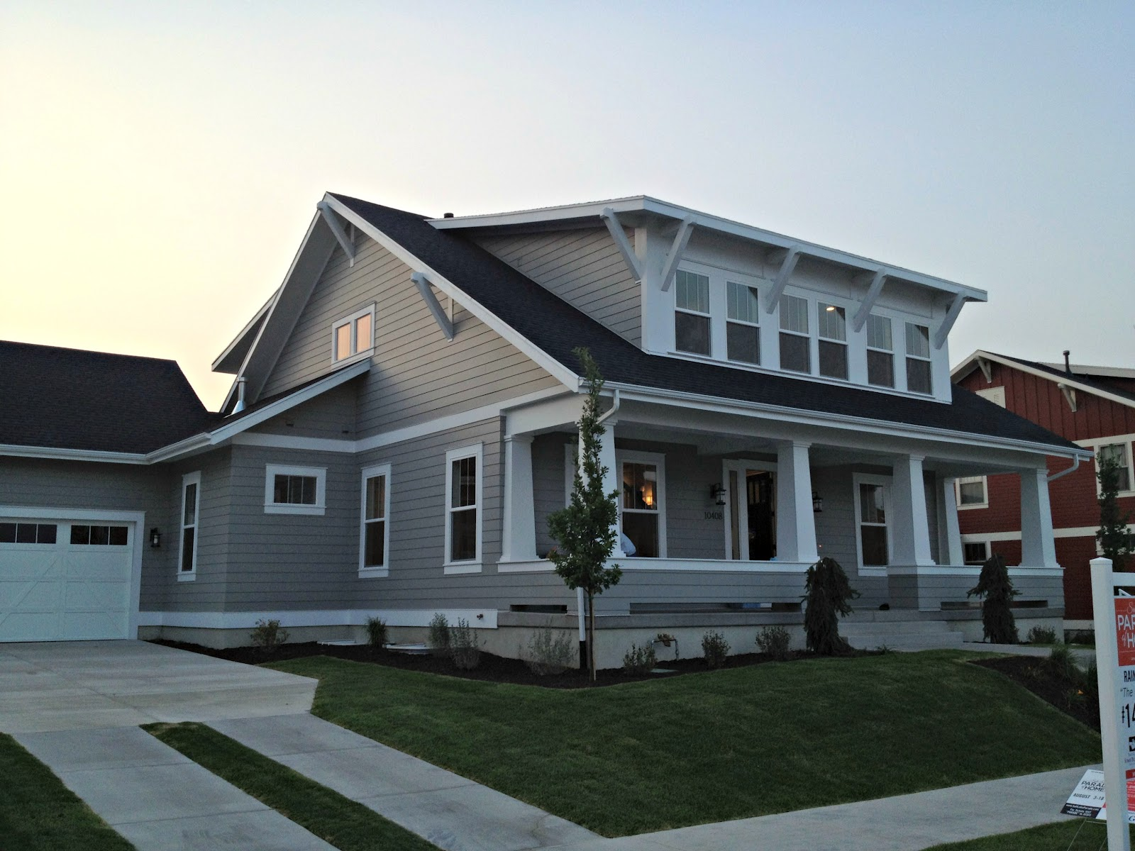Love of homes parade of homes favorites part 1 for Houses with dormers and front porch