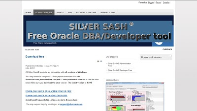 Silver Sash Developer Free for Oracle Database, Database Tool