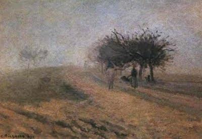 Matinada boirosa a Creil (Camille Pissarro)