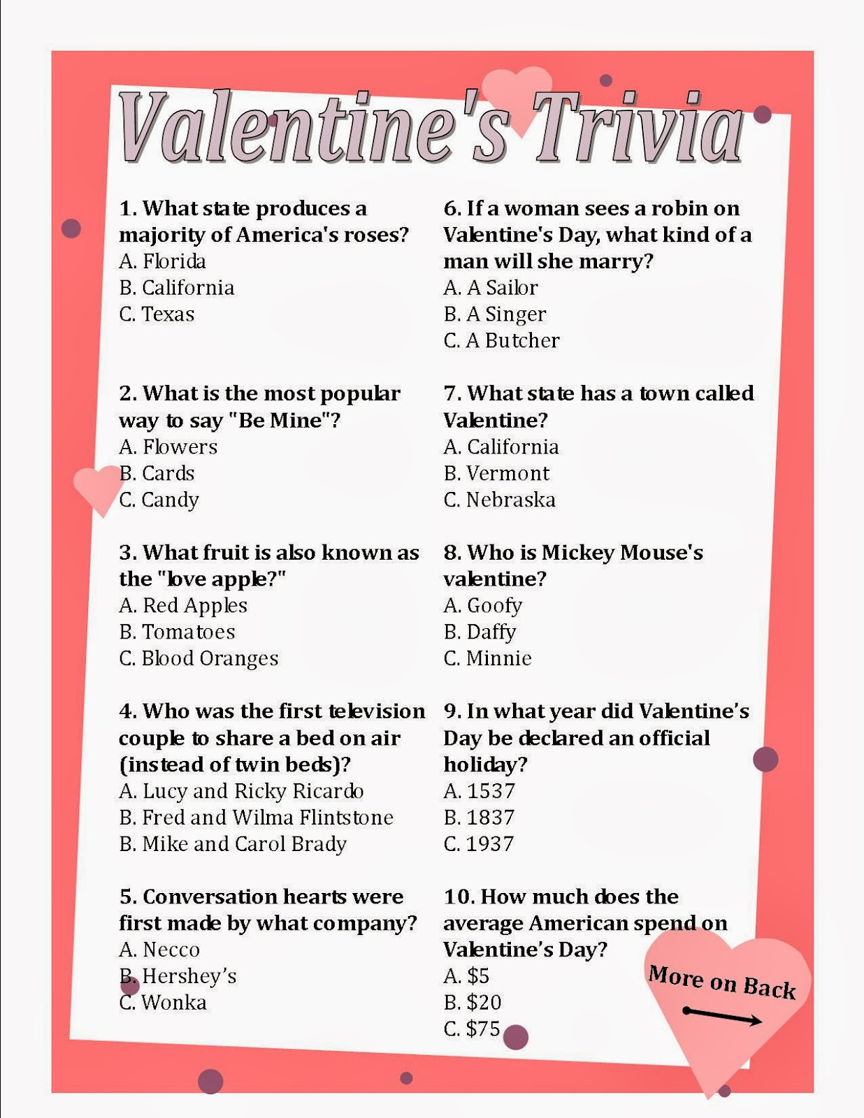 villa serena retirement community: valentine's day presents, Ideas