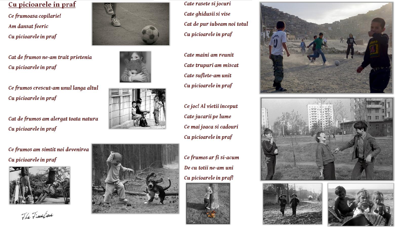 cu picioarele in praf poezie copilarie amintiri unitate umanitate