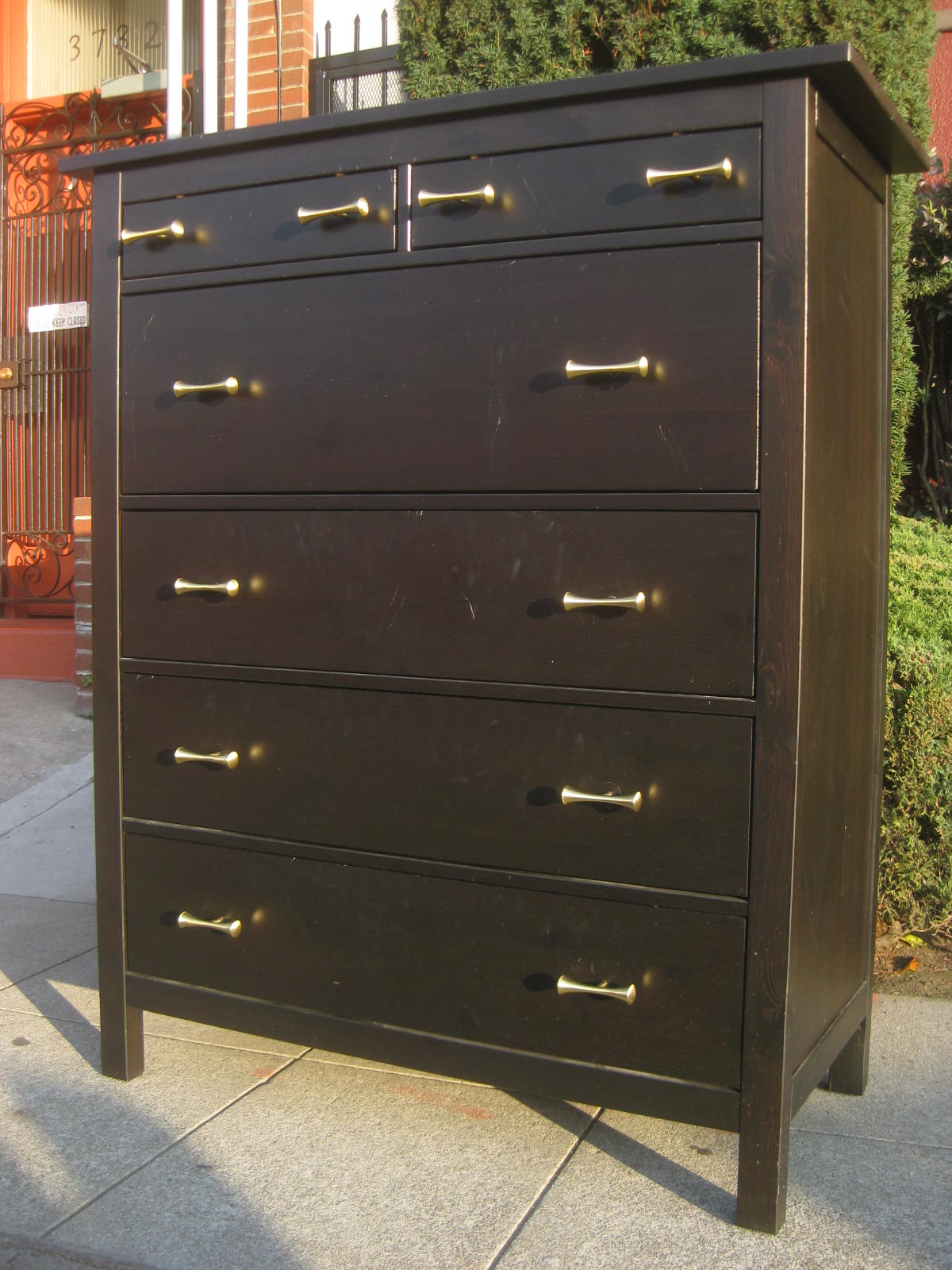 SOLD   Espresso Chest Of Drawers   $150
