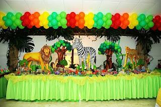 Fiestas tema: Animales de la selva en Costa Rica