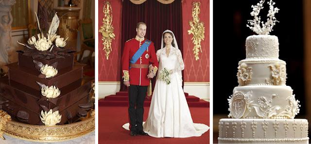 Principe guillermo y Kate Middleton - dos tartas nupciales