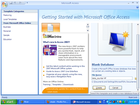 Cara membuat Data Base dan aplikasi sederhana di Microsoft access - AhmaD_Haffiz