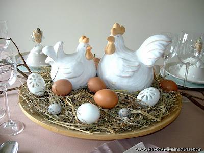 decoracion mesa Pascua centro mesa