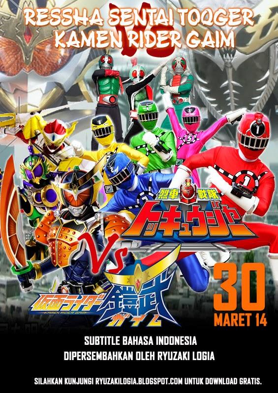 ... Special Episode] Ressha Sentai ToQger Vs. Kamen Rider Gaim Sub Indo