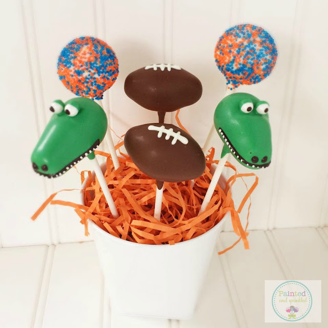 All the Gator Football fans are going to love these cake pops during our tailgating party!