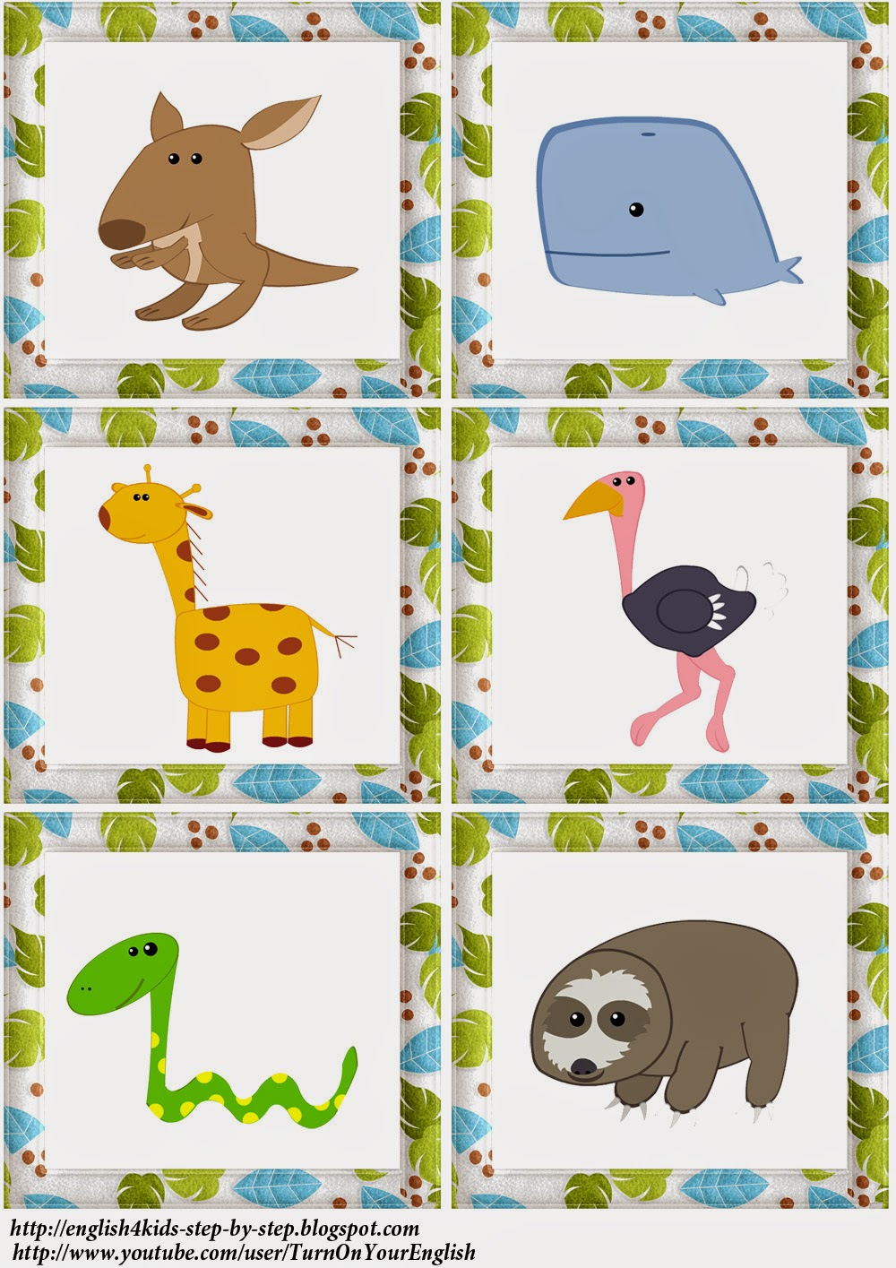 wild animals action verbs flashcards for learning english - Action Berbs