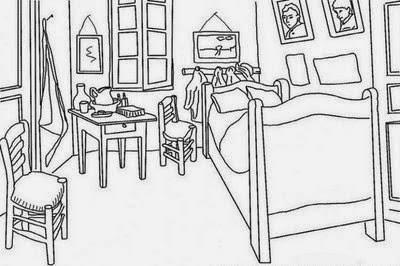 Tercero de primaria de ablitas proyecto van gogh for Dormitorio para colorear