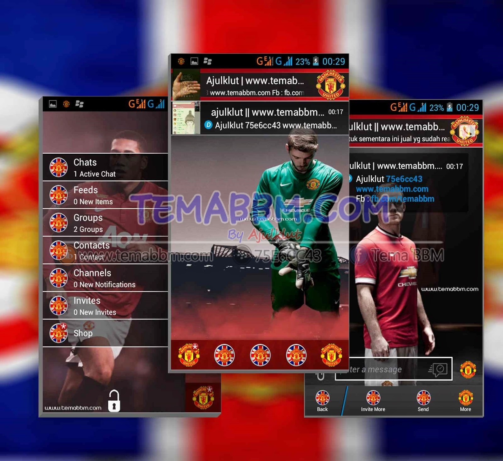 Tema BBM Manchester United
