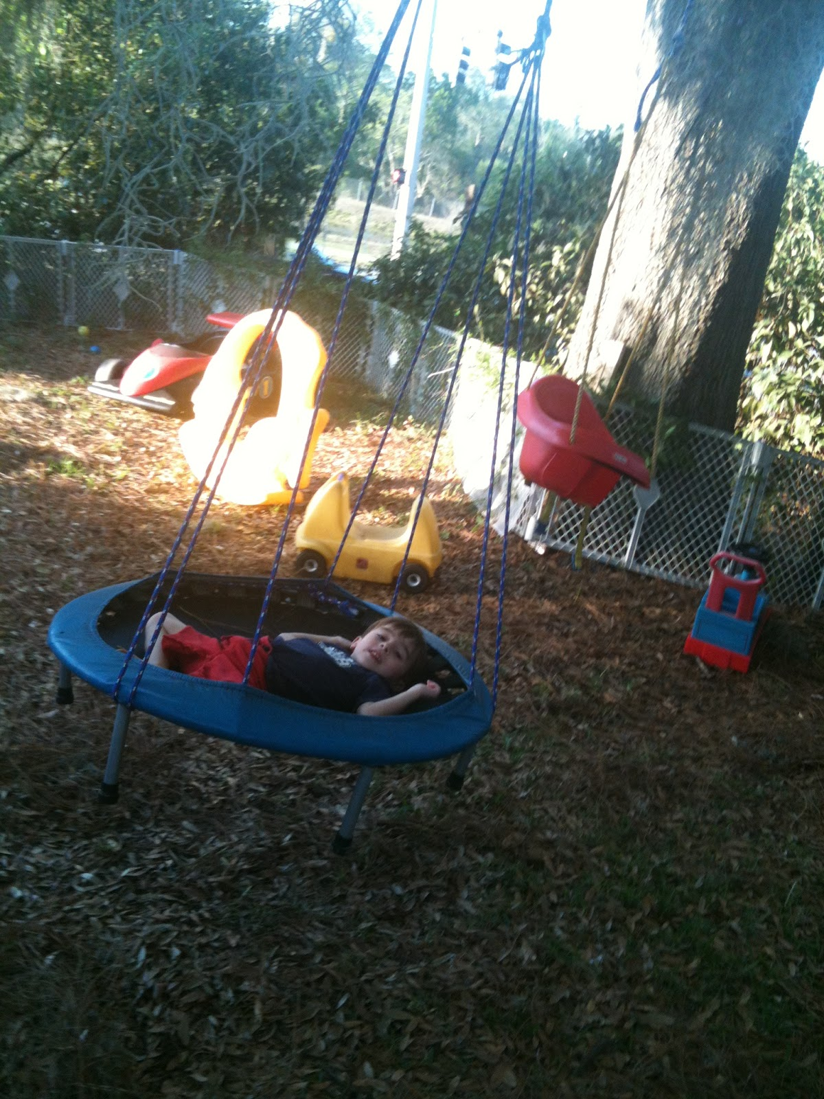 Trampo-swing, Tarzan swing & backyard play environment ...