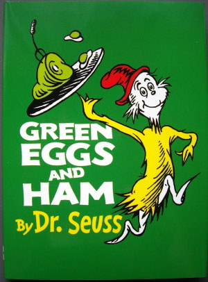Pen and Paper: BANNED: GREEN EGGS AND HAM.
