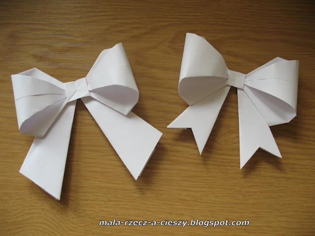 DIY jak zrobić papierową kokardkę origami + filmik (video tutorial)