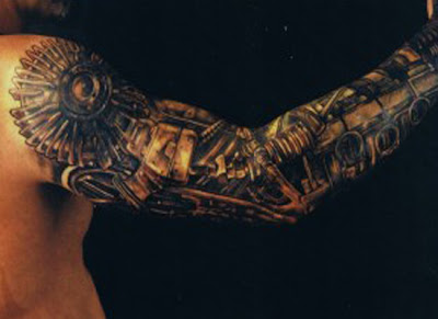 Biomecanical Tattoo on Elbow