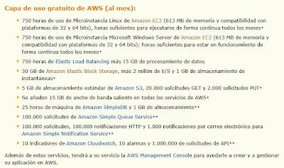 amazon servicios en la nube free