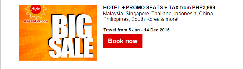 Air Asia: P0.01 Cent Seat Sale!