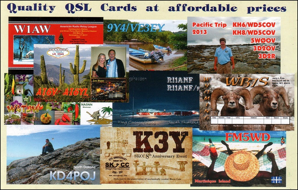 Client work QSL samples by UX5UO