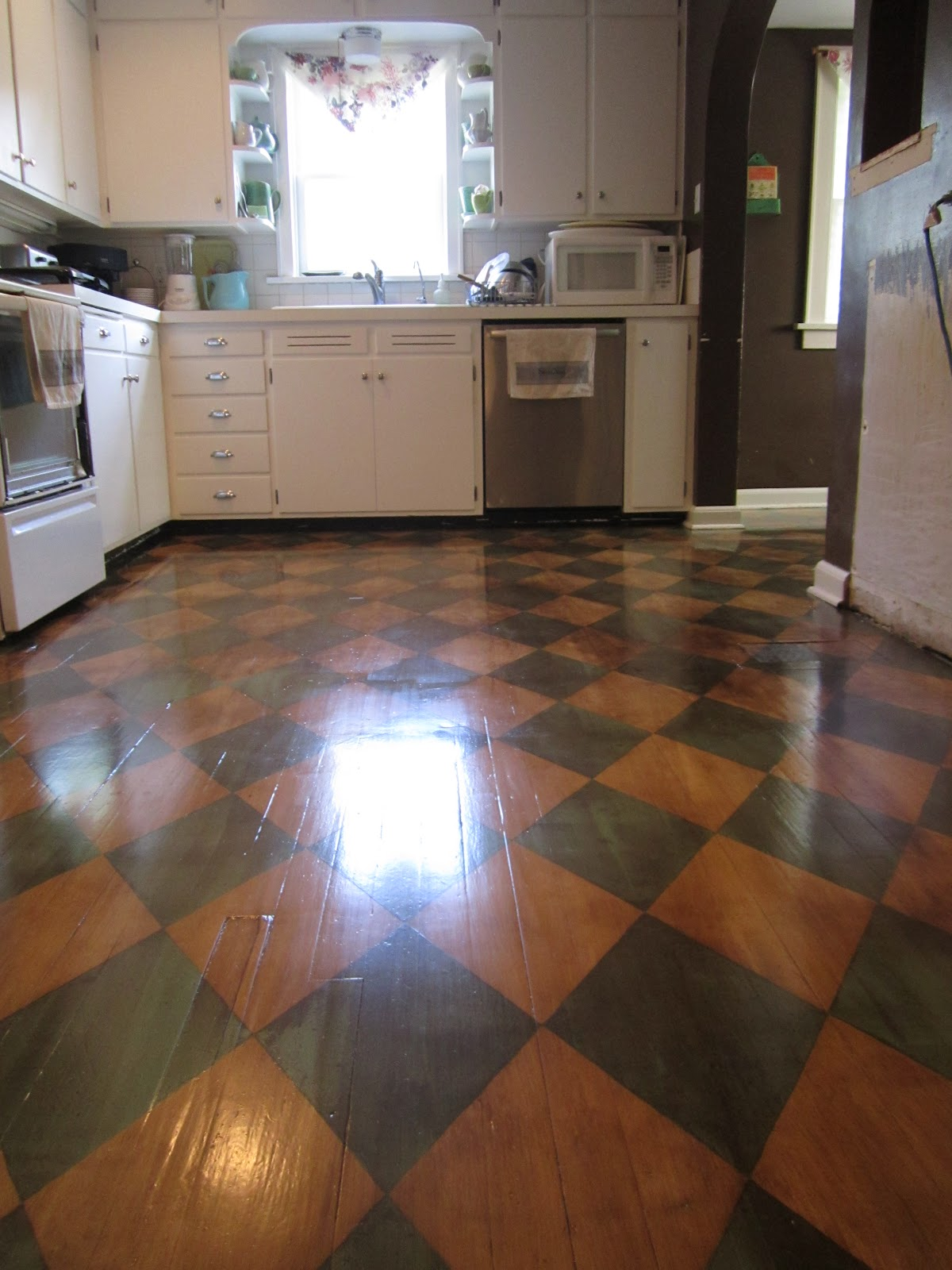 diy kitchen floor ideas wood floors