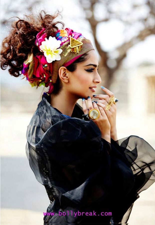 Sonam Kapoor Style Diva Fashion Look - Sonam Kapoor Makeup, Hair Nail Polish Style