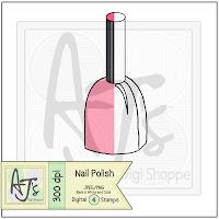 Nail Polish Digital Stamp