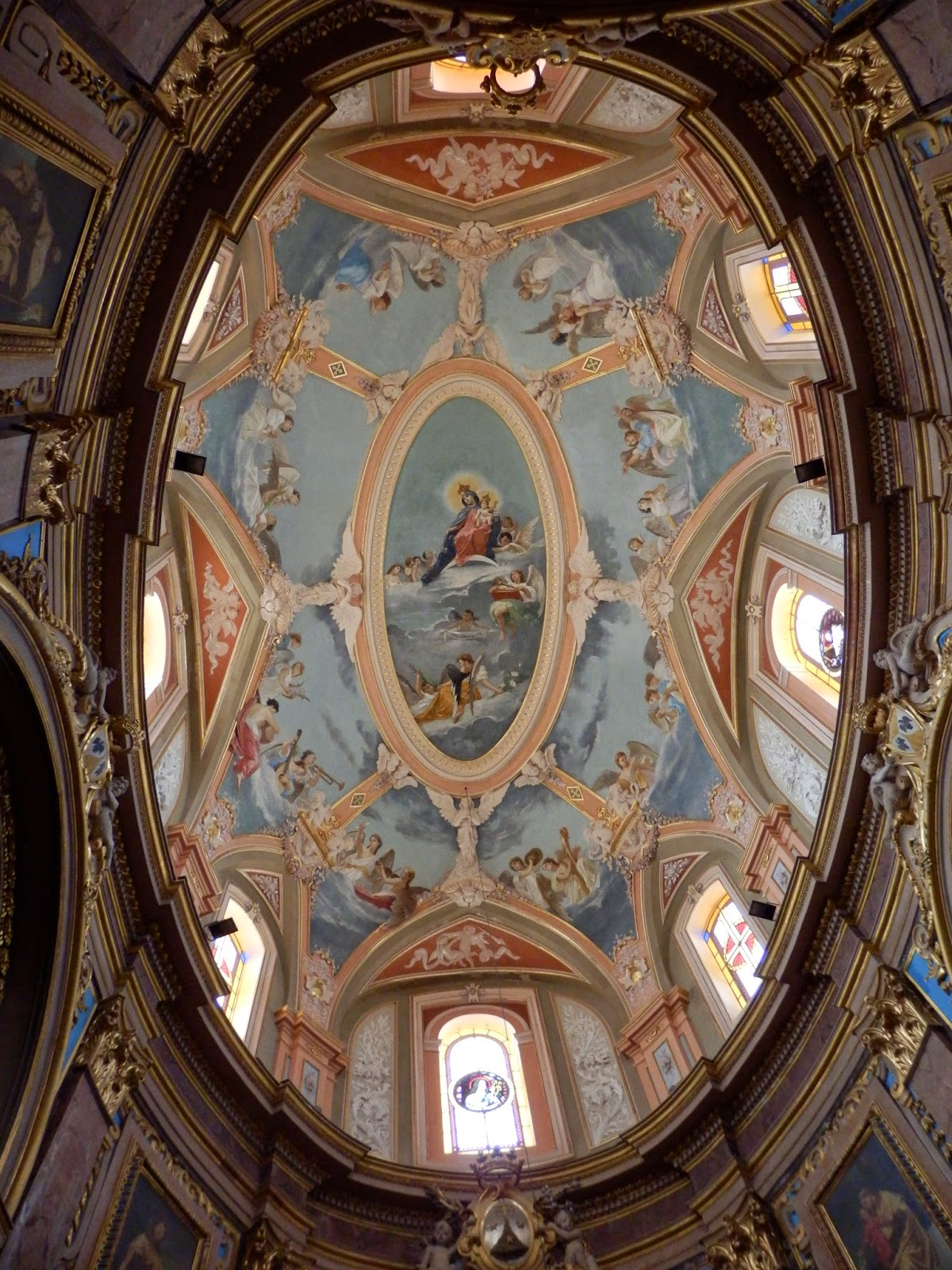 Mdina Church ceiling, Malta