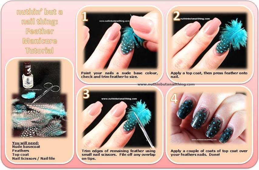 Nuthin But A Nail Thing Feather Manicure Tutorial