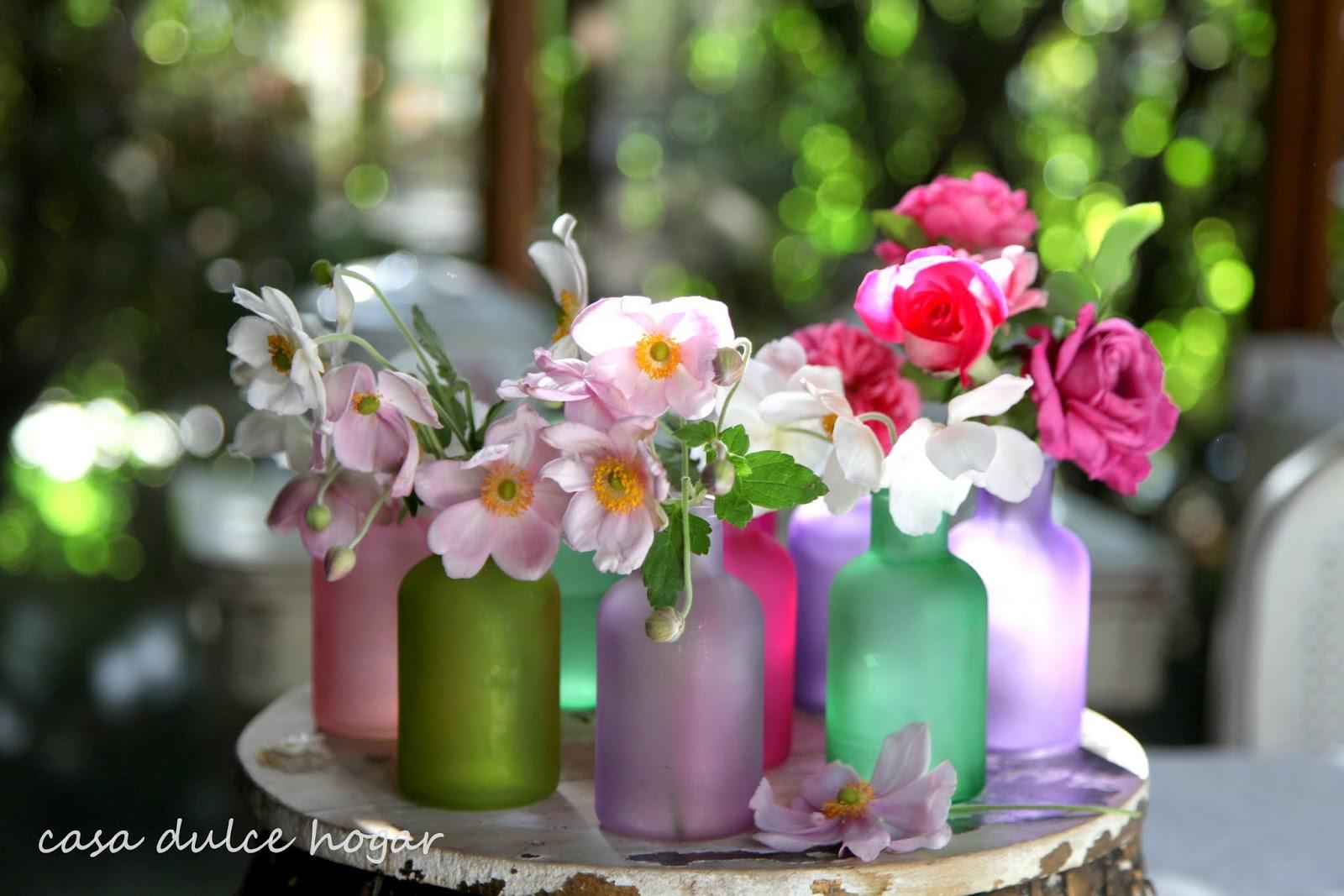Fondo De Flores Multicolores Imagenes de archivo