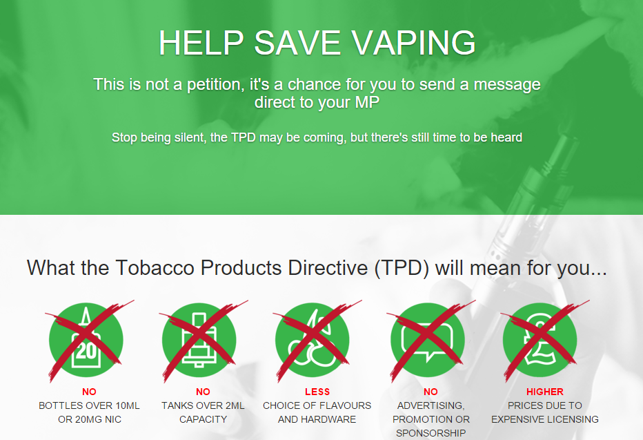 SAVE VAPING UK