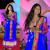 Singer in Blue Salwar Kameez