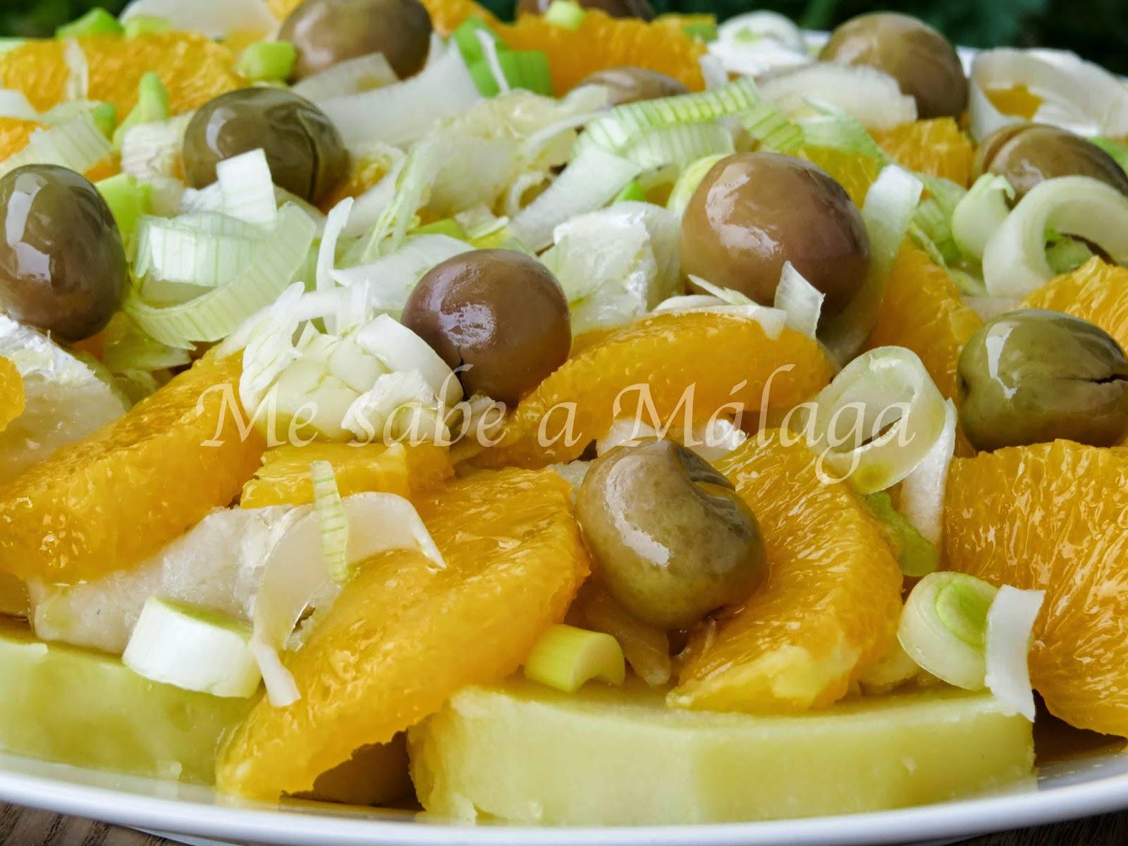 Ensaladilla Malagueña De Bacalao Y Naranjas