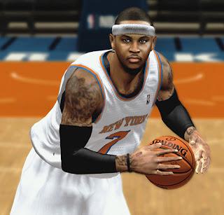 NBA 2K13 Carmelo Anthony Cyberface NBA2K Patch