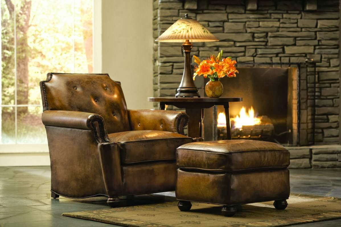Lake Placid chair and ottoman by Stickley & Traditions Furniture: Craftsman leather by Stickley islam-shia.org
