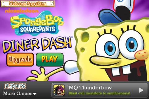 SpongeBob Diner Dash Free App Game By Nickelodeon