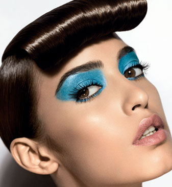 cool with blue eye color  makeup care daily