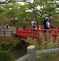 Scary bridges at Godaido, Matsushima