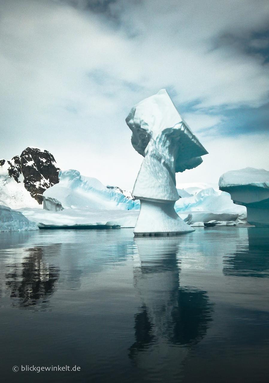 Antarktis Eisberg Eisskulptur