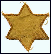 הטלאי הצהוב , אותו חוייבו לשאת יהודי סלוניקי בתקופת המלחמה