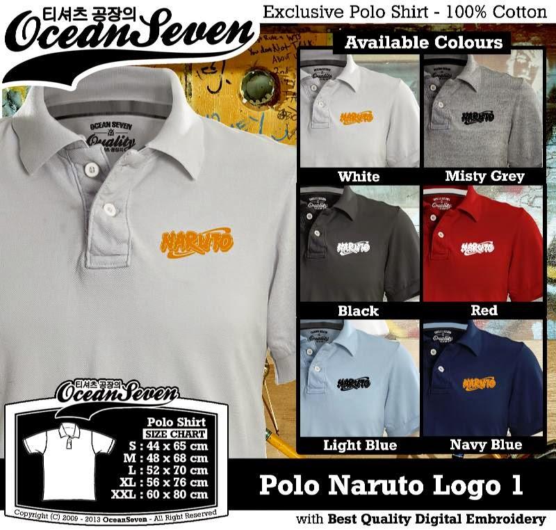 Kaos Polo Naruto Logo 1