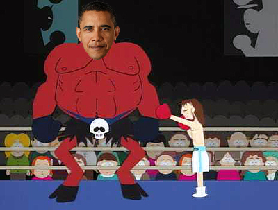 Presidents Obama and Bush 43