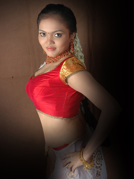 Nikisha hot cleavage show Desi Traditional Styles Spicy PhotoShoot
