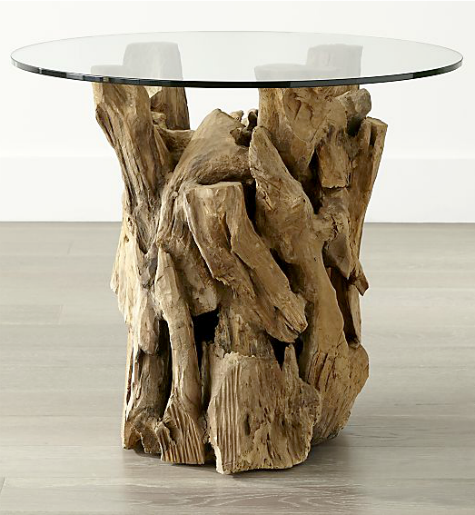 Crate and Barrel Driftwood Side Table