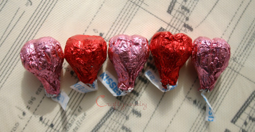 Make Hershey's Kiss Hearts