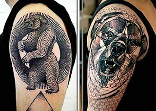 Melhores tatuagens de urso no braço