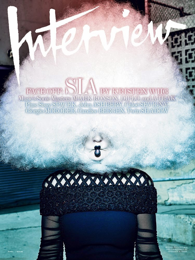 Singer, Songwriter @ Sia By Gregory Harris For Interview, April 2015