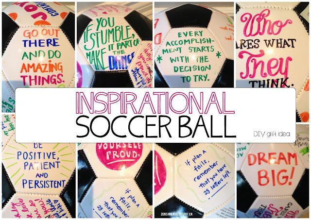 Inspirational Soccer Ball | Zenshmen.com | An inspiring gift for a young athlete